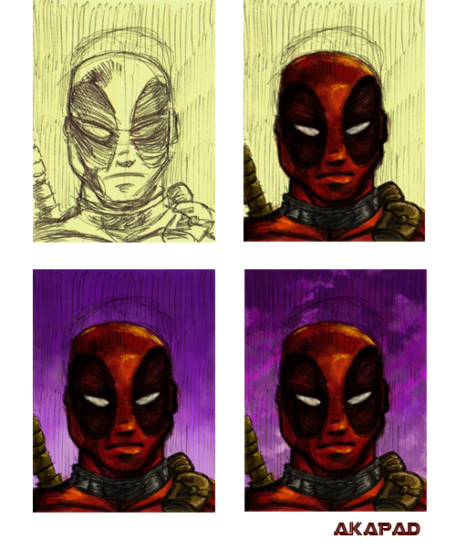 Deadpool Sketch Peter A DeLuca AKAPAD