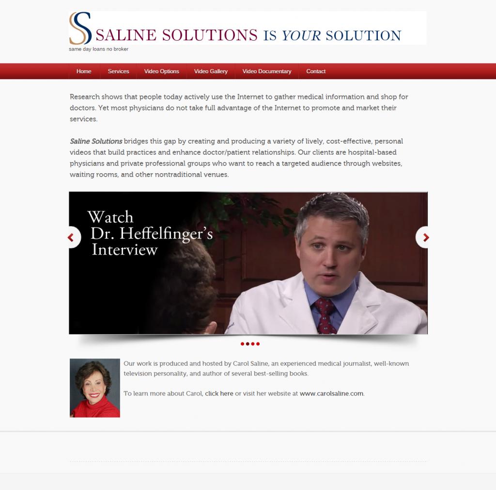 Saline Solutions   Video Based Medical Marketing